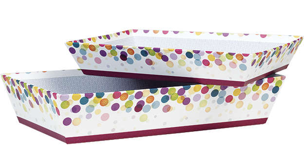Corbeille carton Bulles : Trays, baskets