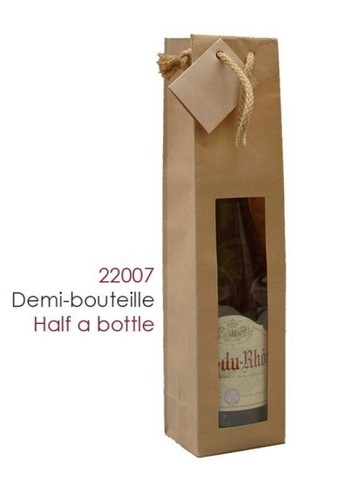 Bag for half bottle or  50 cl , 100 gr : Bottles packaging