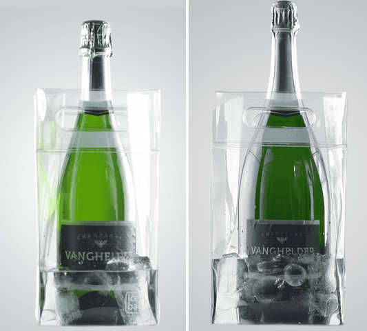 Ice bag SQUARE : Bottles packaging