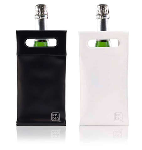 Ice bag SQUARE Noir ou Blanc : Bottles packaging