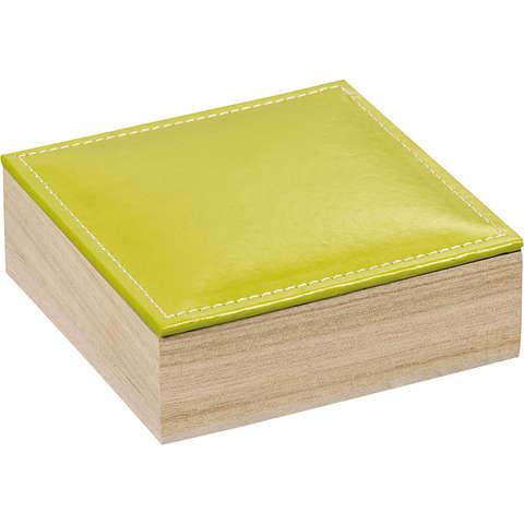 Coffret bois 3 rangées + couvercle simili cuir : Boxes
