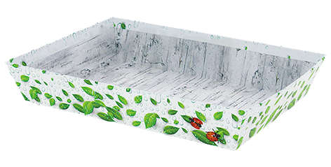 Corbeille carton NATURA : Trays, baskets
