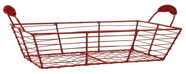 Corbeille rectangulaire grillage - Collection Coquelicot : Trays, baskets