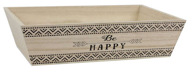 Corbeille bois - BE HAPPY : Trays, baskets