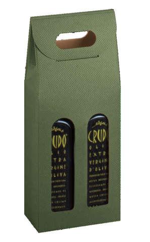 Coffret carton cadeaux pour bouteilles spéciales huile d'olive AOC : Bottles packaging