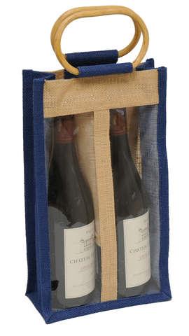 Sac jute 2 bouteilles  75 cl+ fenêtre : Bottles packaging