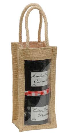 Sac jute 1 bouteille ou pot : Bottles packaging