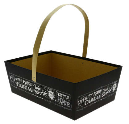"Corbeille + anse ""Vintage noir"" : Trays, baskets"