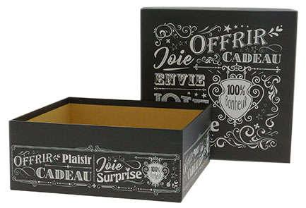 """Boite carrée """"Vintage Noir"""" : Boxes"""