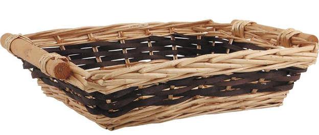 Corbeille osier 46-41x33x10 cm : Trays, baskets