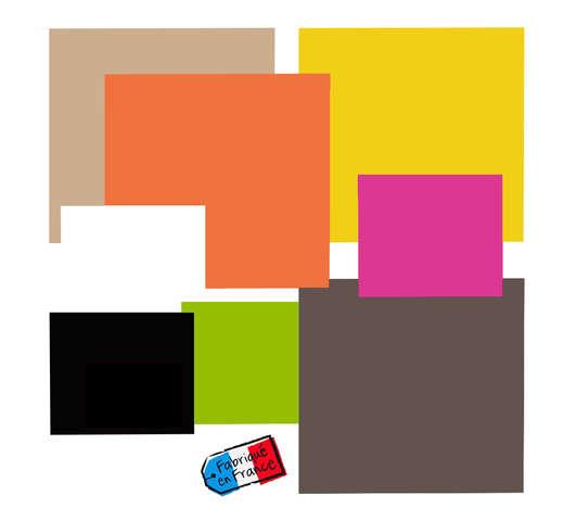 Carré droit couleur double face Color's Collection : Boxes