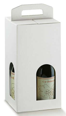 Carton économique blanc 4 bouteilles : Bottles packaging