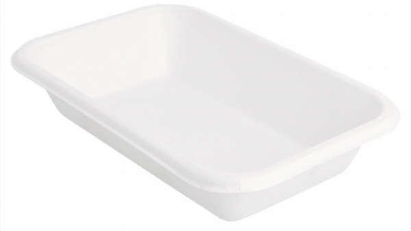 Plateaux 'bionic' 425 ml blanc bagasse : Evènementiel