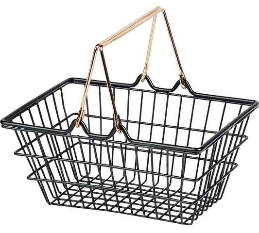 Panier métal noir : Trays, baskets