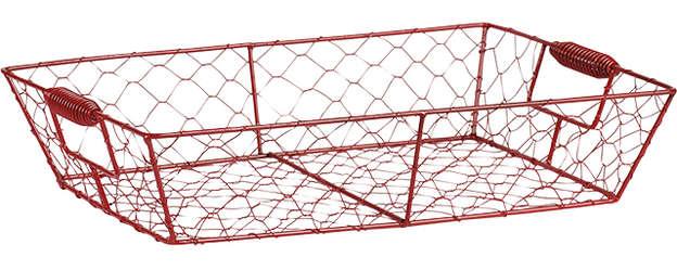 Corbeille métal rouge : Trays, baskets
