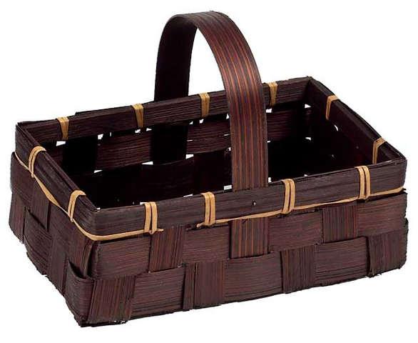 Panier bambou marron : Trays, baskets