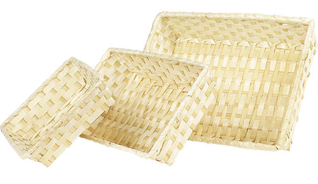 Corbeille bambou nature : Trays, baskets