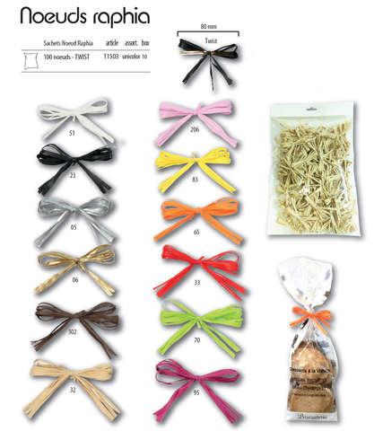 100 Nœuds raphia Twist : Packaging accessories