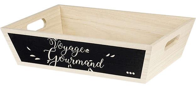 Corbeille Bois Voyage Gourmand : Trays, baskets