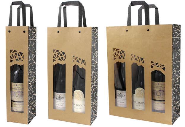 Sac kraft bouteille + fenêtre AUTHENTIQUE : Bottles packaging