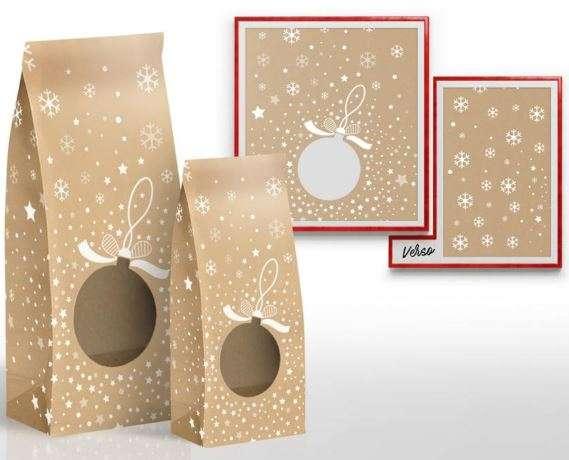 SACHET KRAFT SNOW - NOËL : Small bags