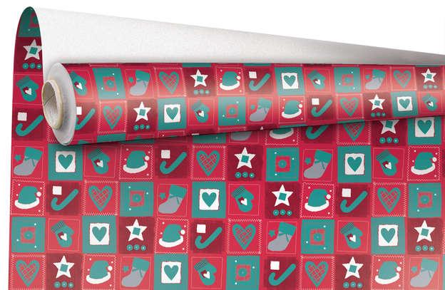 """Rouleau Papier cadeau """"Christmas"""" : Packaging accessories"""