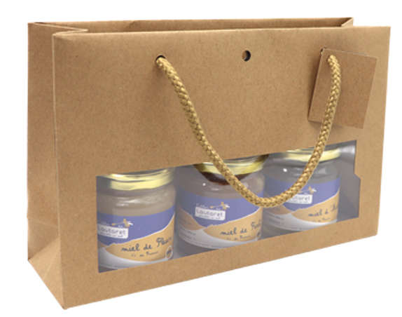 Sacs fenêtre kraft large  : Jars packing