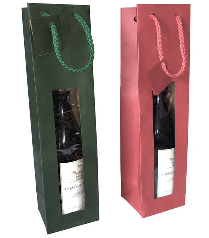 Colored kraft bag : Bottles packaging