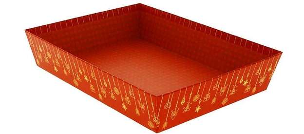 Corbeille rectangle Carton Christmas  : Trays, baskets