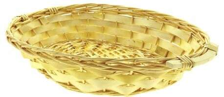 Corbeille ovale osier plein  : Trays, baskets