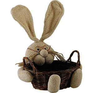 Corbeille lapin en osier  : Trays, baskets