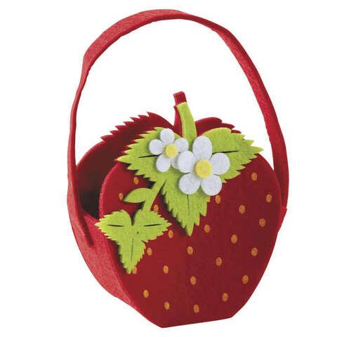 Panier fraise en feutrine  : Trays, baskets