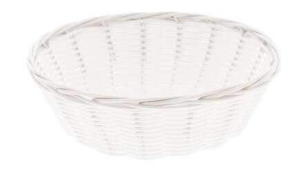 Corbeille Polypropylène plastic Blanc PM : Trays, baskets