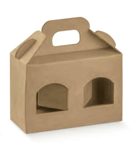 Carton lisse 2 pots hauteur 90 mm : Jars packing
