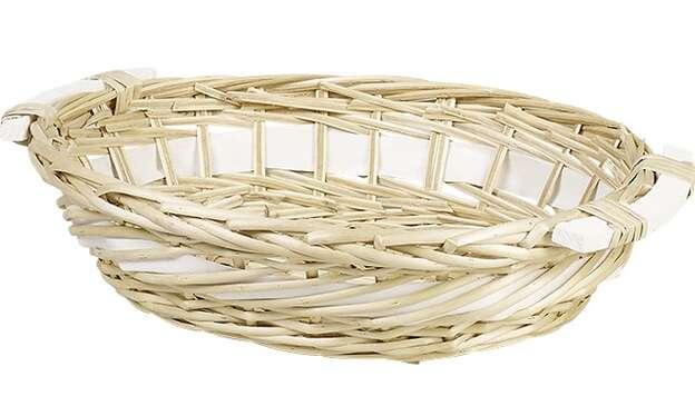 Corbeille osier ovale nature : Trays, baskets