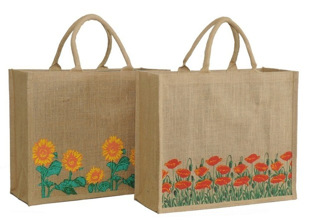 Printed jute bag  : Bottles packaging and local products