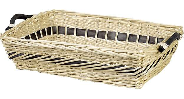 Corbeille osier rectangle nature : Trays, baskets