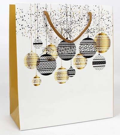 Sac kraft Boules de Noël : Bags