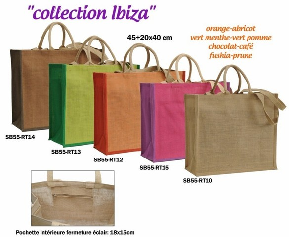 IBIZA jute collecion 450+200X400 mm : Bags