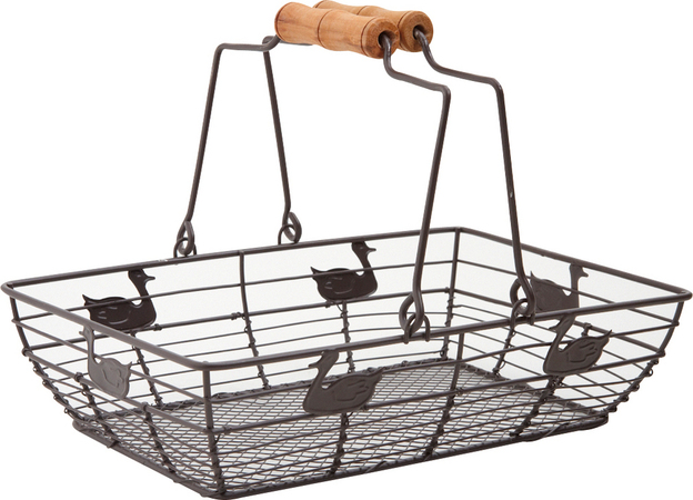 Metallic basket rectangular 28x19x7 cm : Trays, baskets