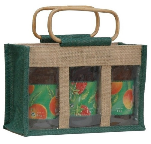 Jute bag for 3 jars x 1 kg : Jars packing