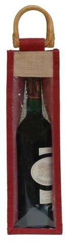 Jute bottle bag with window : Bottles packaging