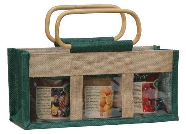 Jute bag for 3 jars x 500 gr : Jars packing