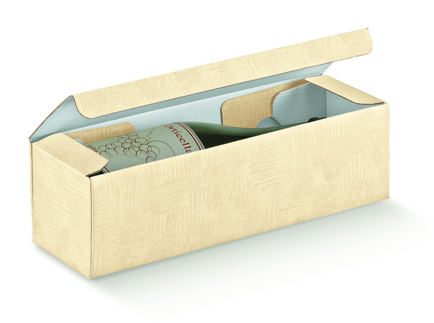 box for 1 bottle 0.75 l named Cantinetta : Bottles packaging