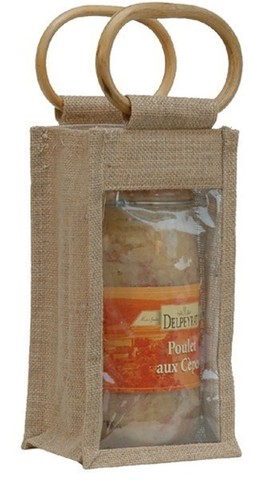 Jute bag for 1 jar 2 kgs : Jars packing