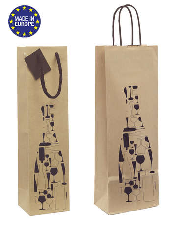 Kraft Bag for 1 bottle : Bottles packaging