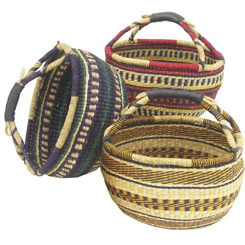 Lot de 3 Sacs de courses en jonc : Trays, baskets