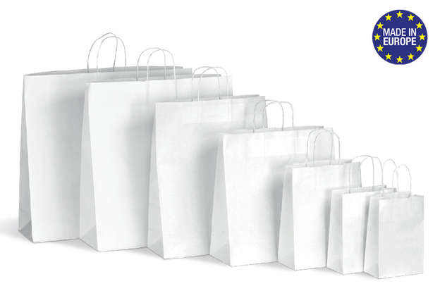 White Paper bag Twisted Handle  : Bags