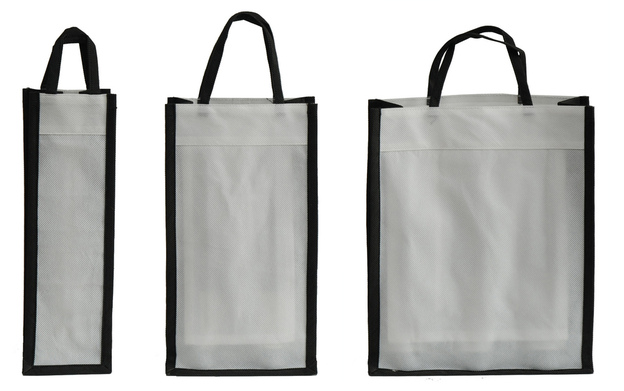 Reusable non-woven bottle's bag  : Bottles packaging and local products