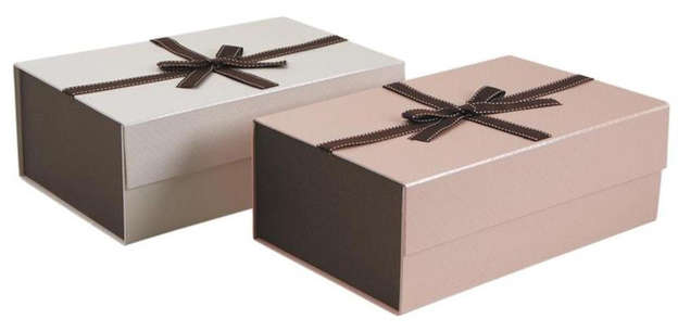 Lot de 2 Coffret pliable en carton : Boxes